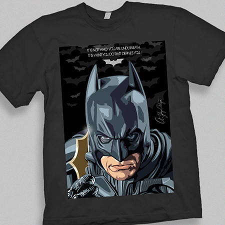 DIGITAL ILLUSTRATION - Batman t-shirt