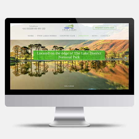 WEB DESIGN Real Estate - Twin Lakes UK
