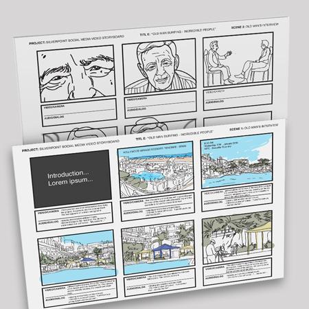 Diseño Storyboard Anuncio Turístico