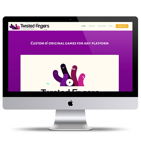 WEB DESIGN Startup Videogames - Twisted Fingers