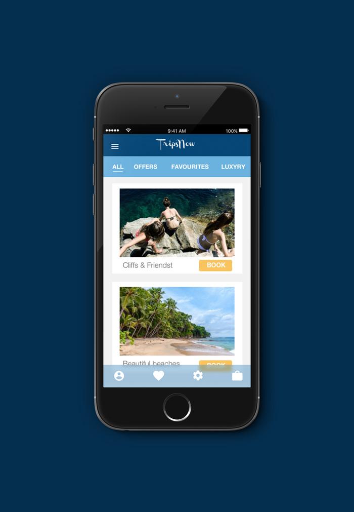 App design - Tripnow