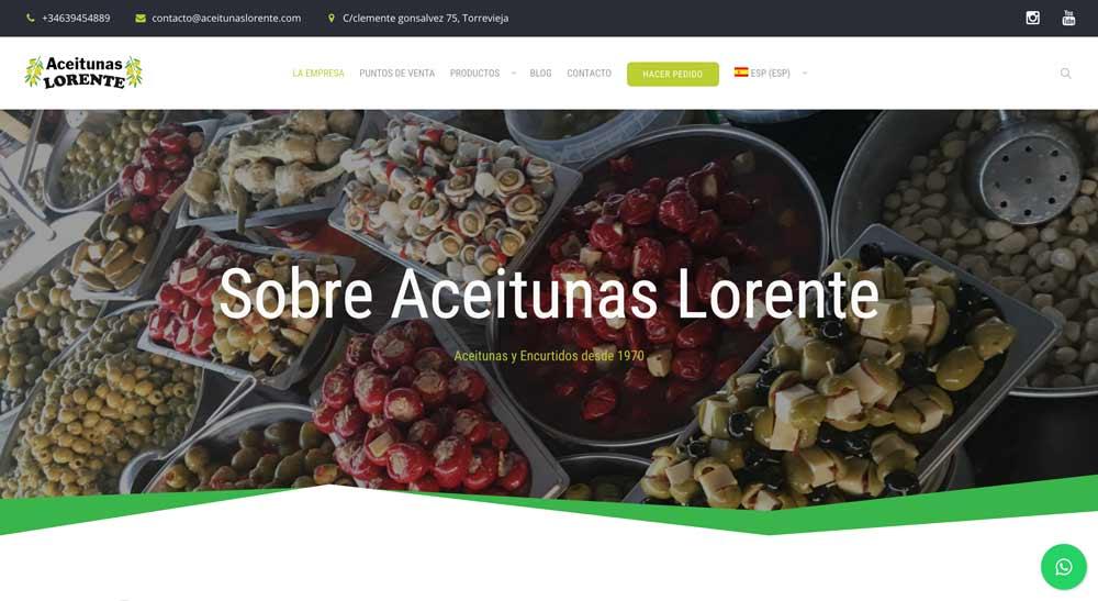 diseño web aceitunas lorente