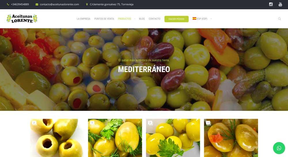 web design aceitunas lorente