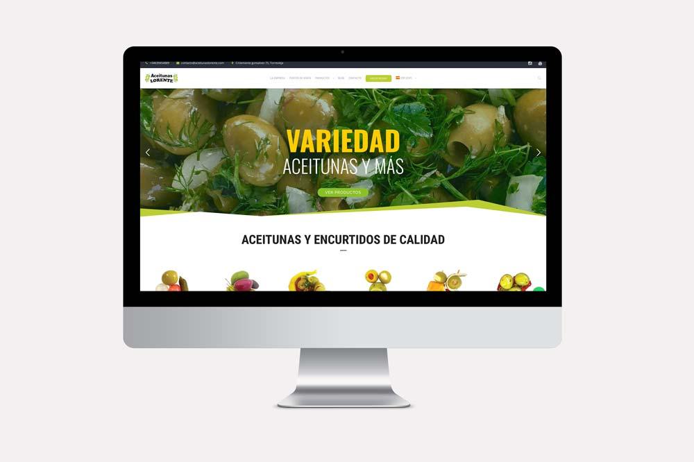 DISEÑO WEB de aceitunas lorente gourmet