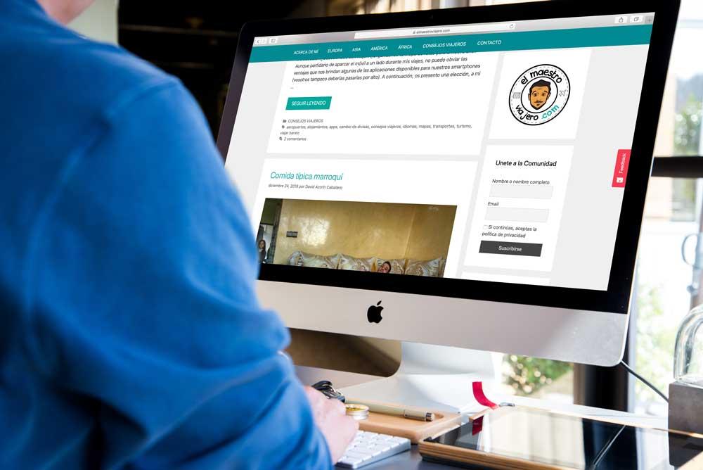 diseño web de el maestro viajero online