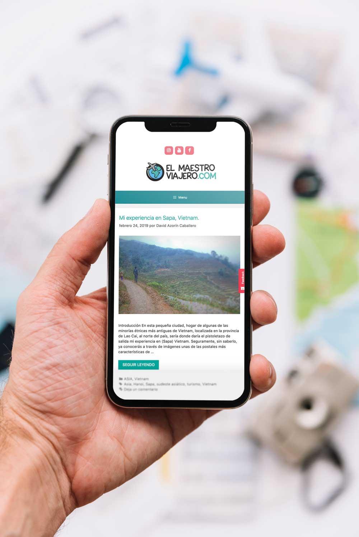 diseño web el maestro viajero