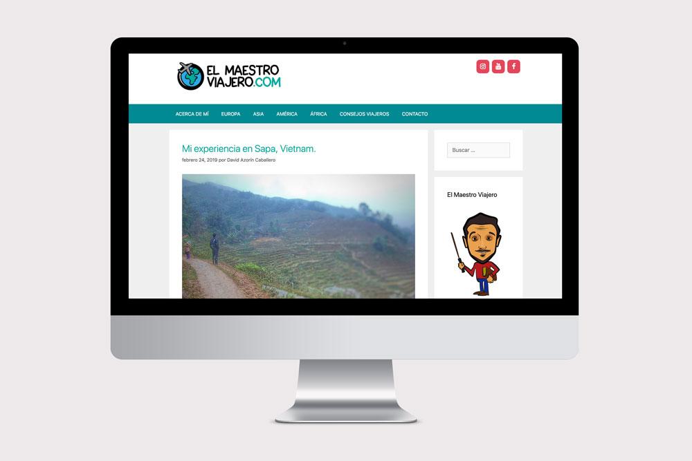 """diseño web de blog de viajes """"el maestro viajero"""""""