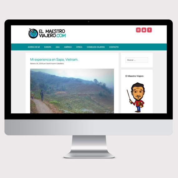 web design blog de viajes el maetro viajero
